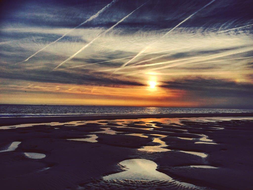 sunset @maasvlakte